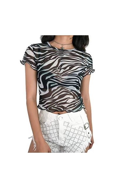 SansoiSan Zebra Animal Printed T-Shirt
