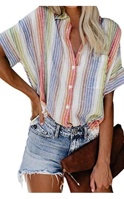 Pink Queen Multicoloured Stripes Top