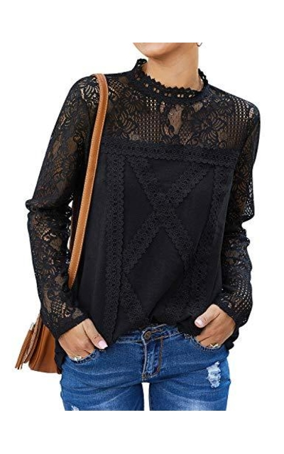 ZXZY Lace Blouse Top