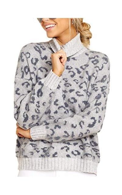 Relipop Leopard Print Sweater