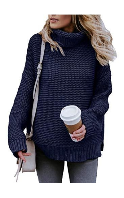 Asvivid Turtleneck Knit Sweater