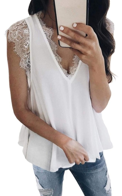 HOTAPEI Lace Cami Tank Top