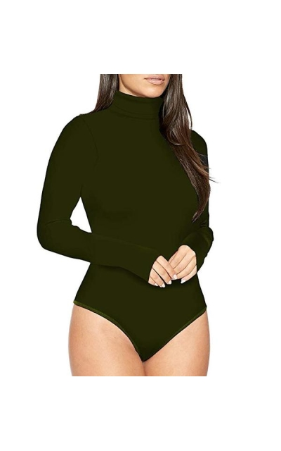 High Neck Thong Bodysuit