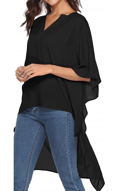 SHERONV High Low Loose Tunic Top