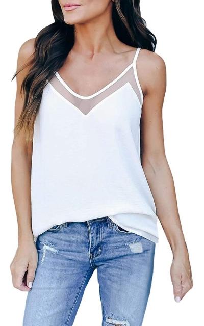 Arainlo  V-Neck Cami Shirt
