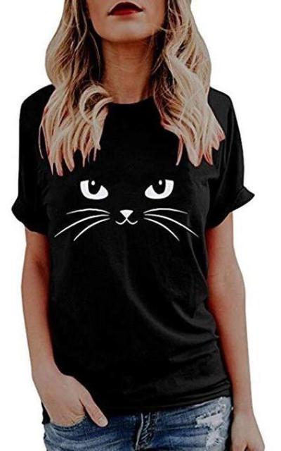 MODOQO Cat Print Top
