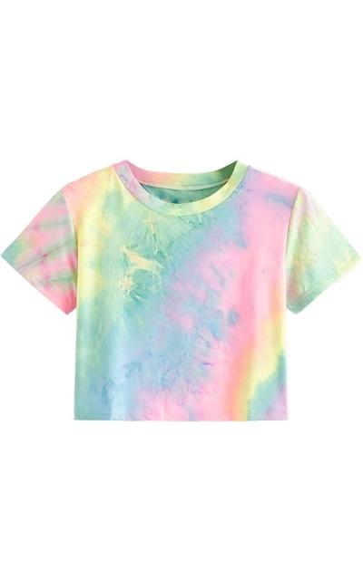 SweatyRocks Tie Dye Crop Top