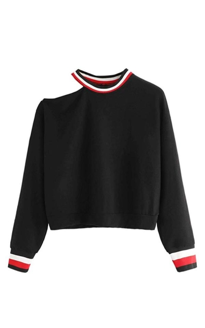 SweatyRocks One Shoulder Sweatshirt