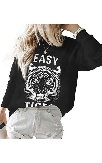 MOOSLOVER Tiger Print Sweatshirt