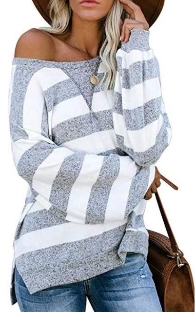 Molisry  Stripe Knit Shirt