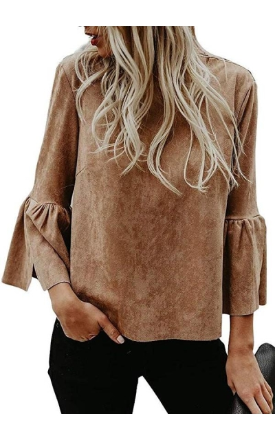 Valphsio Faux Suede Top