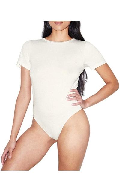 American Apparel Mix Modal Short Sleeve T-Shirt Bodysuit