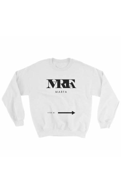 marfa texas 1738 arrow sweatshirt