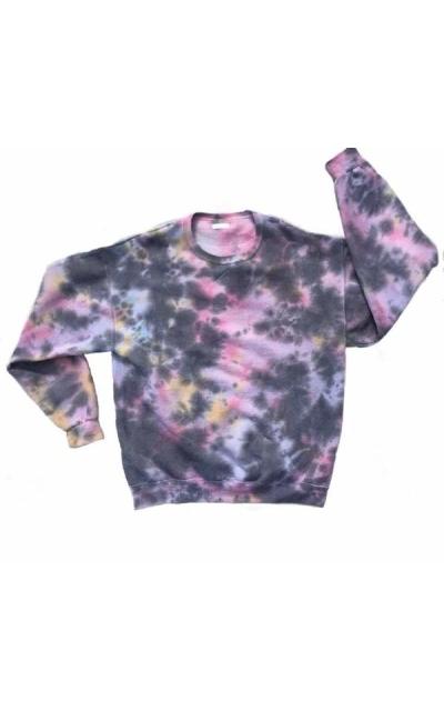 Twice Tie dyed Crewneck Unisex Sweatshirt