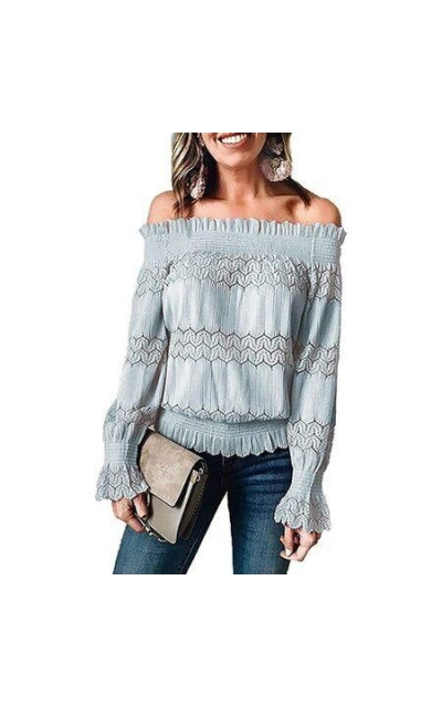 Asyoly Off Shoulder Top