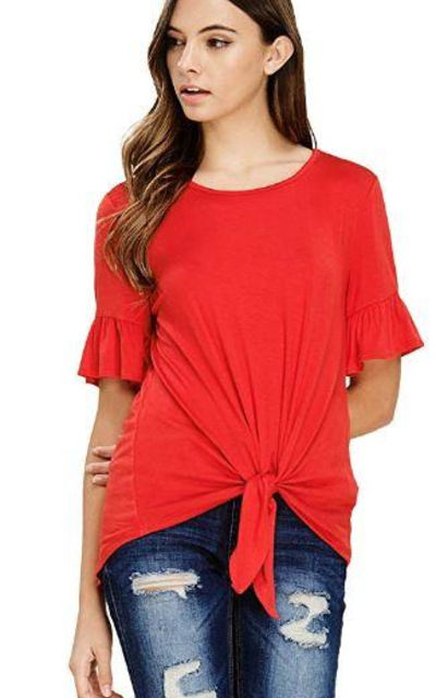 Annabelle Tie Front T-Shirt