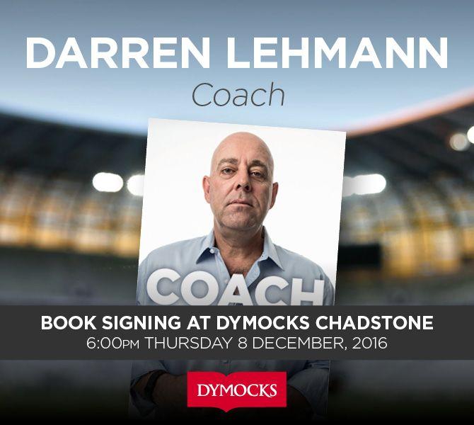 Darren Lehmann Signing