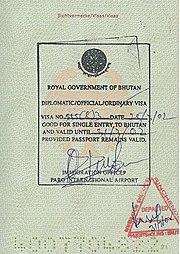 Характеристика визы в Бутан в 2019 году