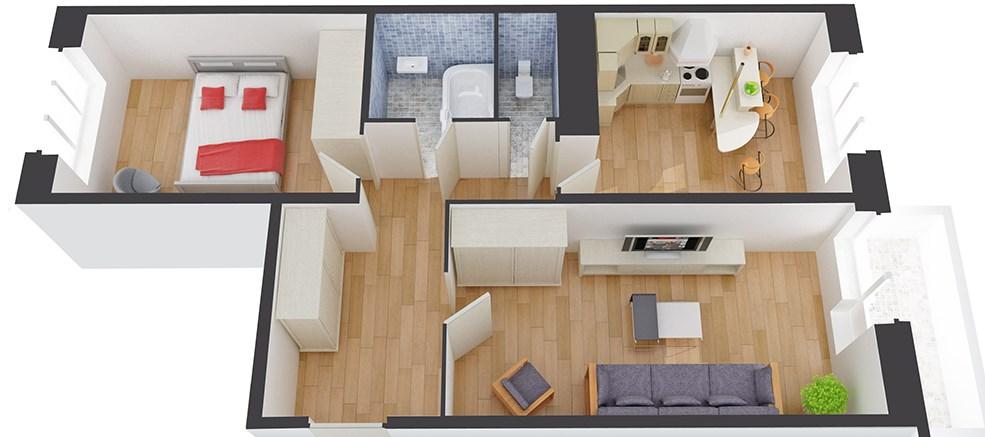 Как происходит перепланировка двухкомнатной квартиры в панельном доме в 2019 году