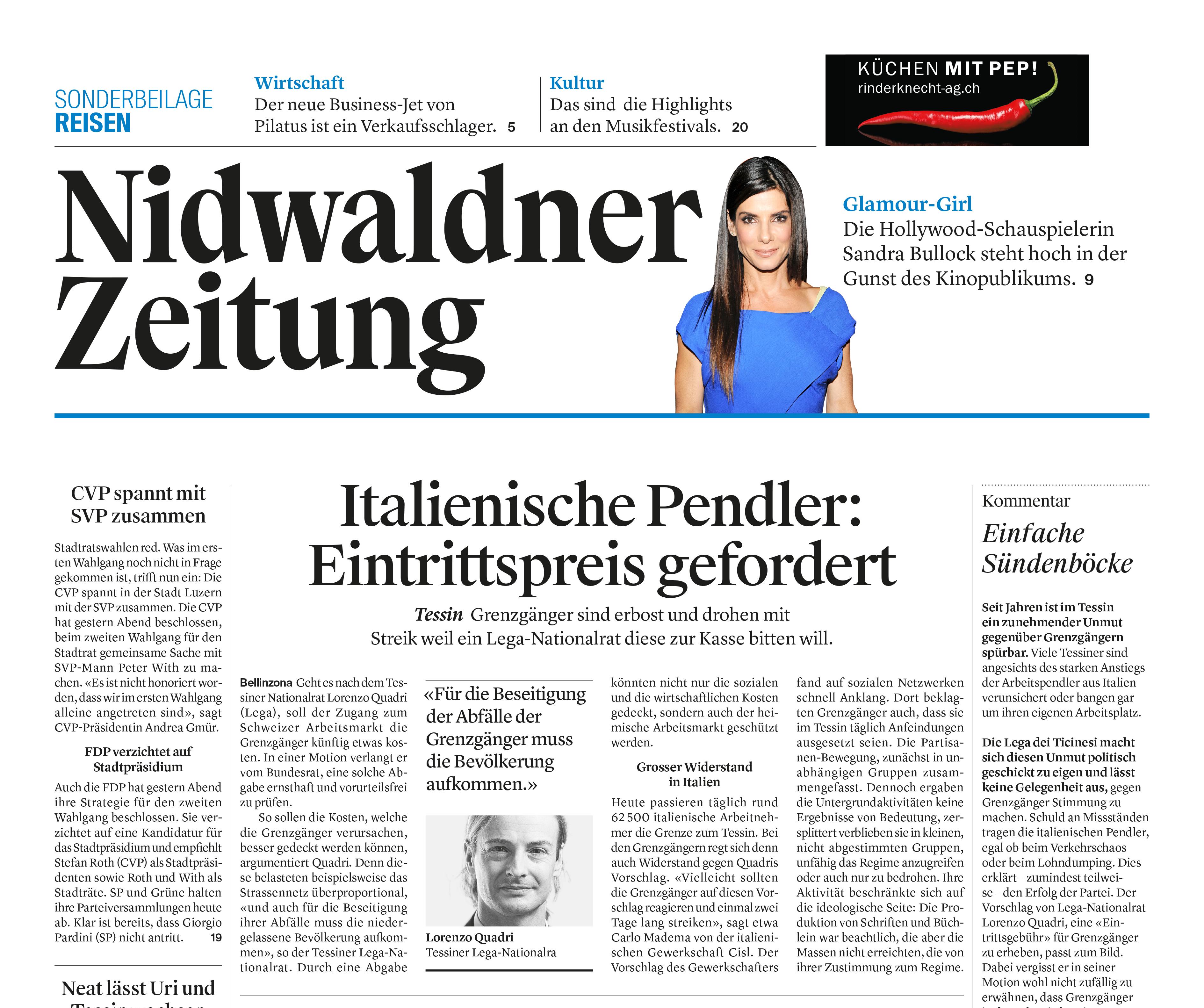Nidwaldner/Obwaldner Zeitung