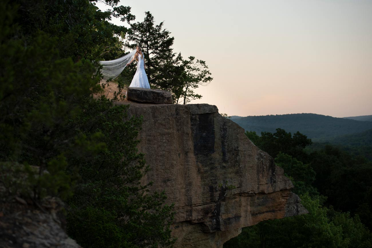 bride on top of mountain
