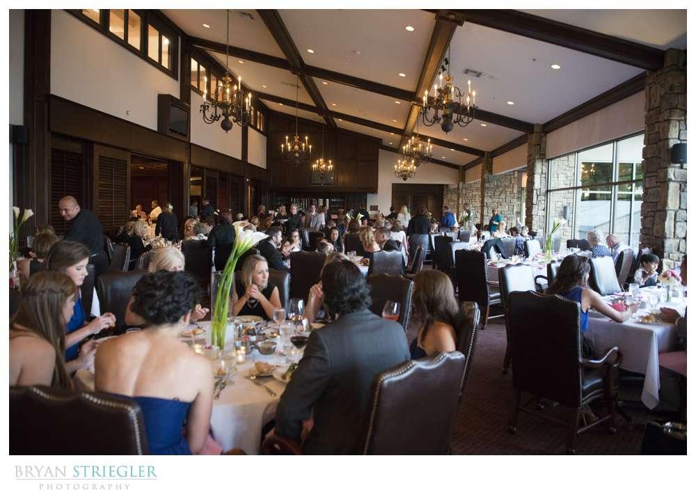 wedding reception at country club