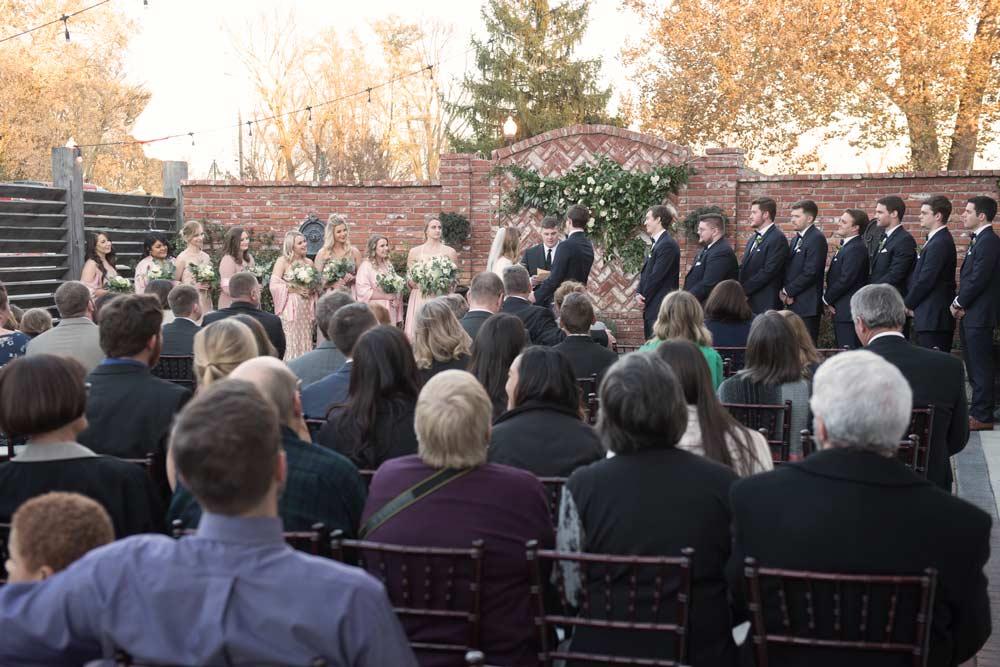 wedding ceremony at the Ravington