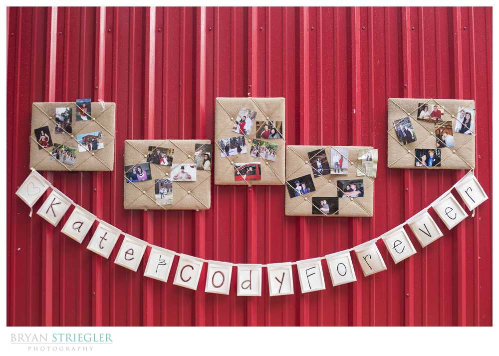 wedding sign with couple's pictures
