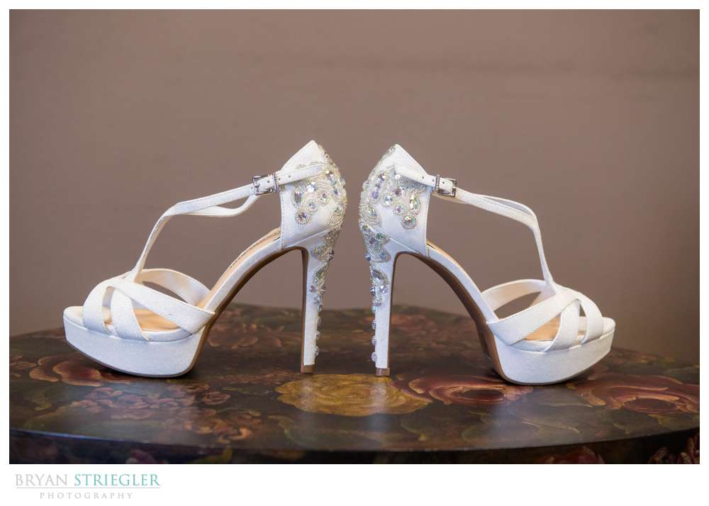 fancy, high heeled wedding shoes