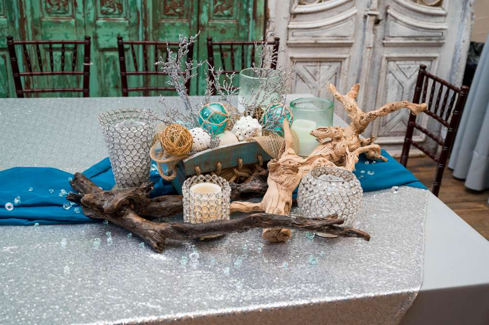 beach theme wedding centerpiece