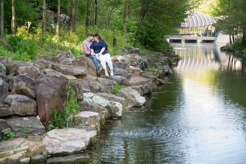photos by a creek