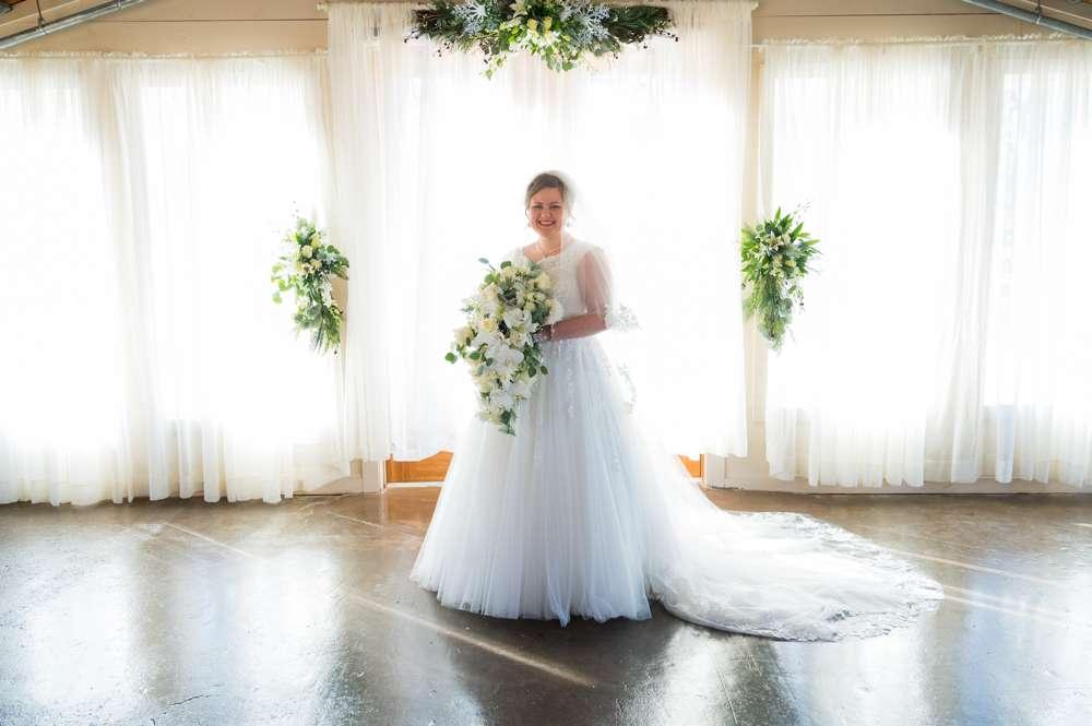 Bride at Barn at the Springs