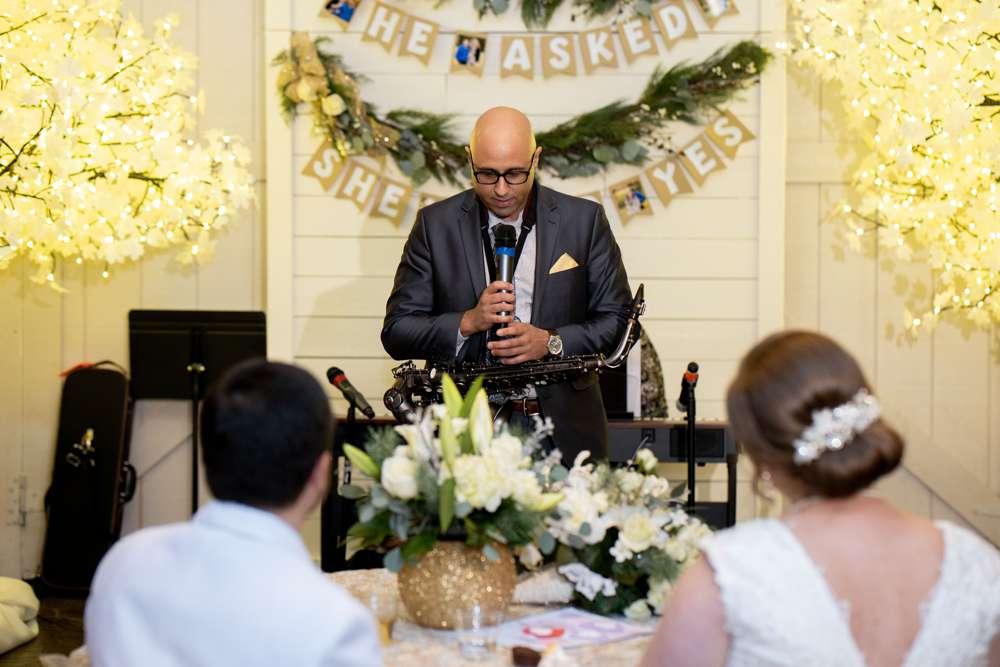 Saxophone at wedding