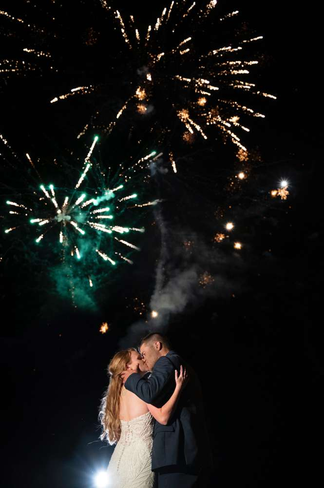 wedding photo with sparklers