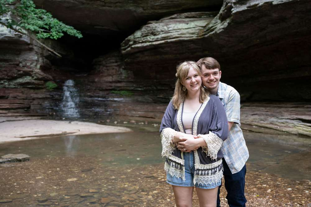 engagement photo in the wildernes