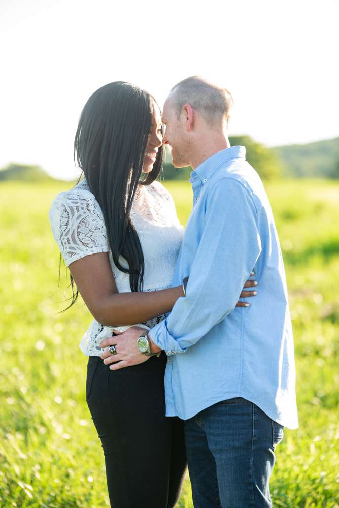 engagement session in field