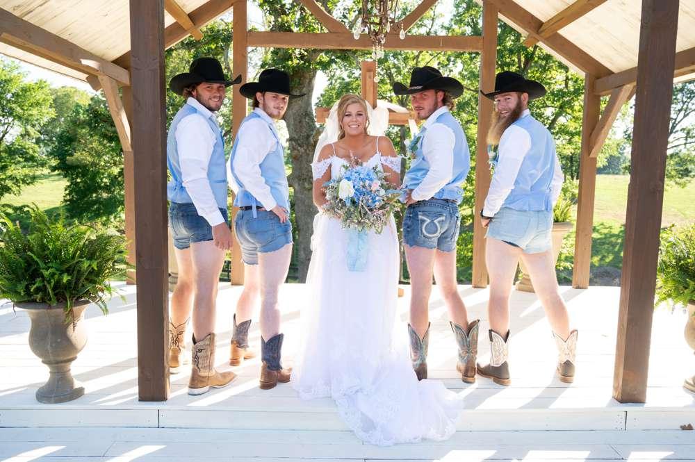 groomsmen suprise bride