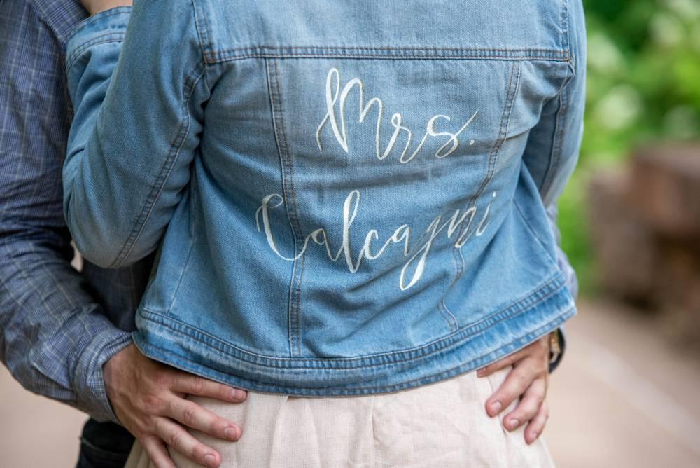 custom jean jacket with Groom's last name
