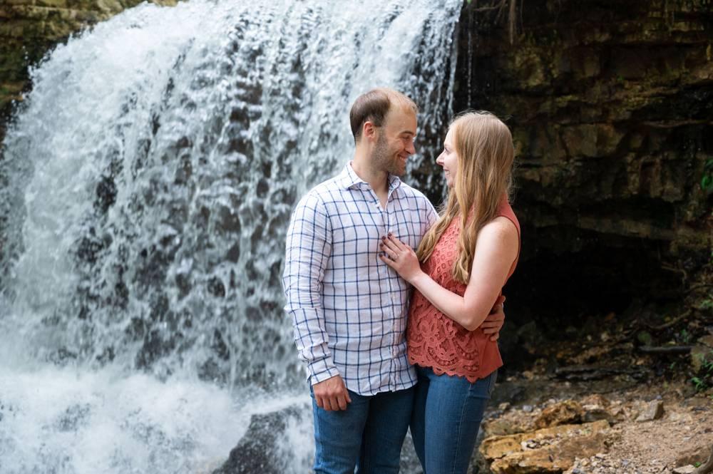 big waterfall at Tanyard Creek