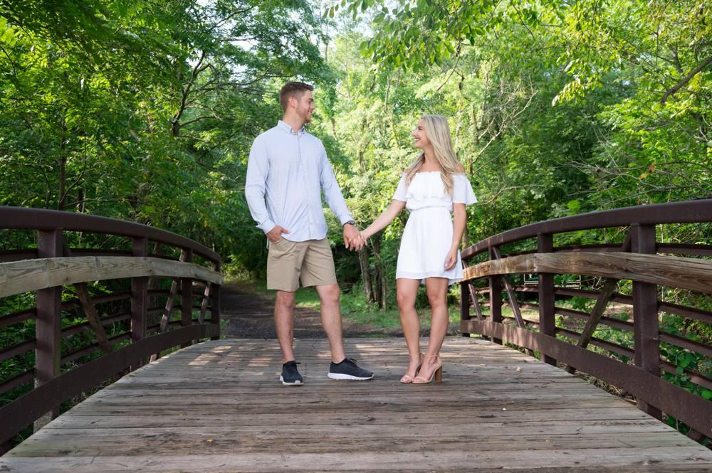 couple on bridge at Hartman Park