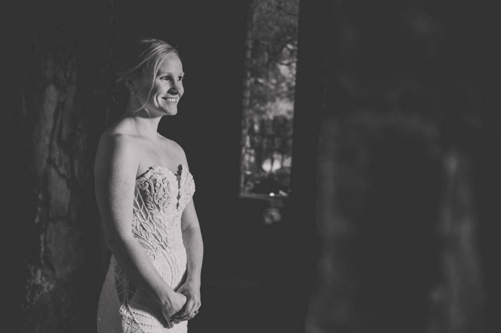 black and white bridal portrait at MattLane Farm