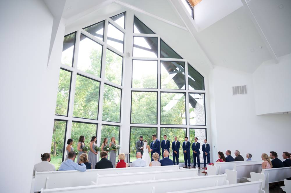 wide shot of chapel at Osage House