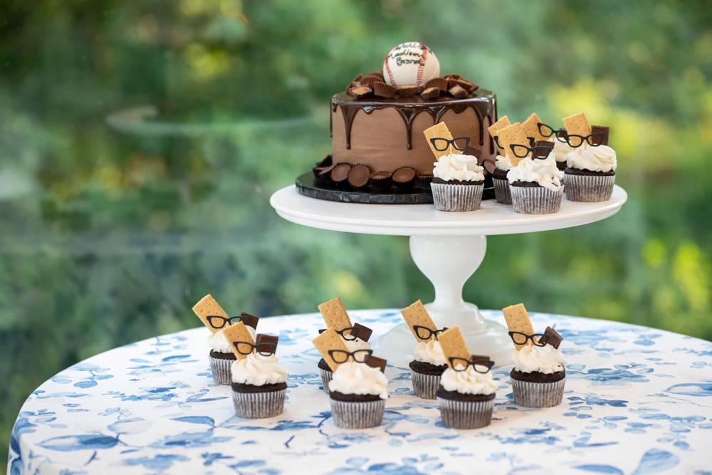 baseball groom wedding cake