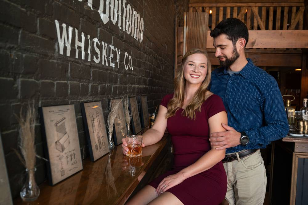 engagement photos at West Bottoms in KC