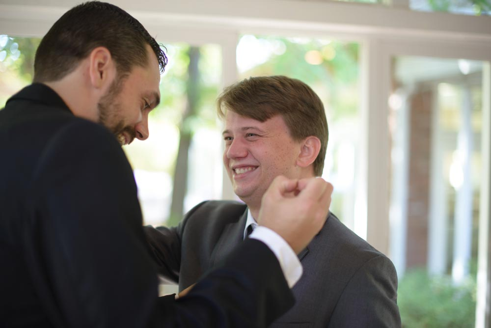 brother officiates wedding