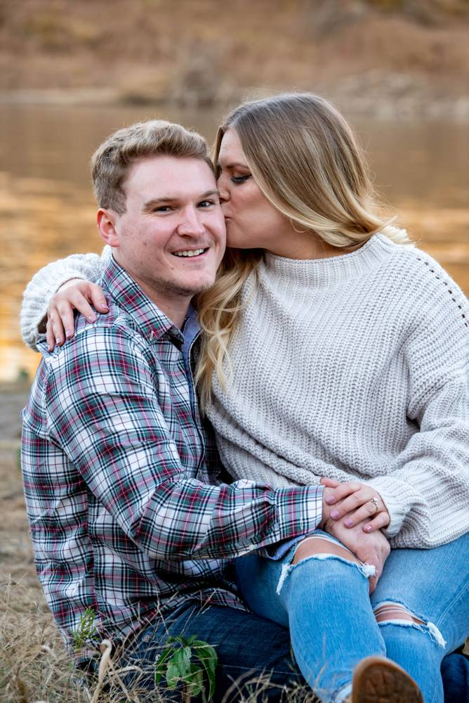 engagement photos down by the river