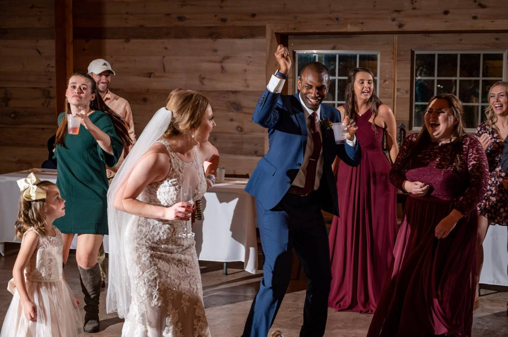 people dancing at Under the Woods Wedding