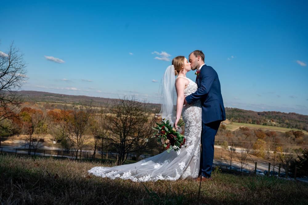 bride and groom in Missouri wedding