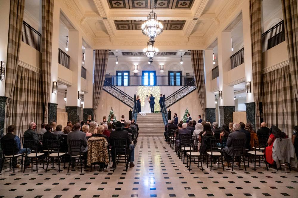 luxury wedding at Mayo Hotel in Tulsa