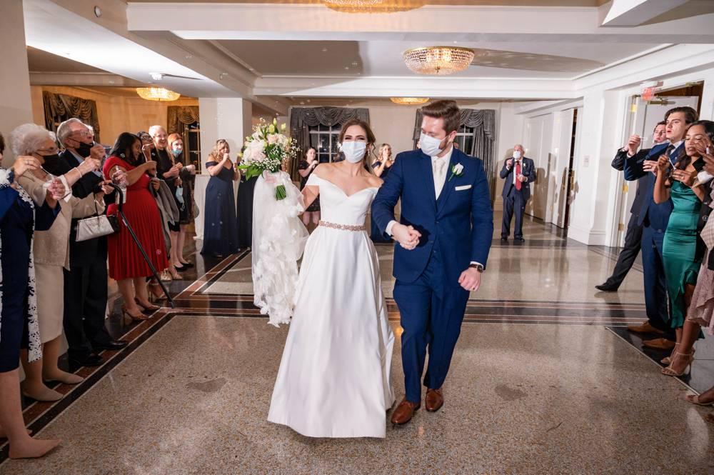 bubble exit at Tulsa Wedding at the Mayo Hotel